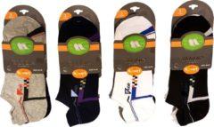 Yanoir Fantasie katoenen sneaker sokken 12 paar voordeel verpakking maat 40-46