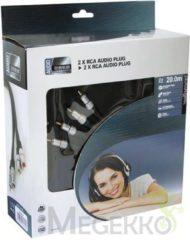 LegaMaster 2 x RCA AUDIO PLUG NAAR 2 x RCA AUDIO PLUG / PROFESSIONEEL / 20.0m
