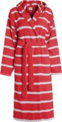 Seahorse badstof badjas met capuchon rood/wit