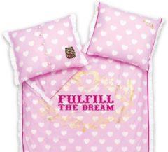 Roze LDbyLittleDiva Little Diva Fulfill The Dream Kussensloop - 50x60 cm - Pink