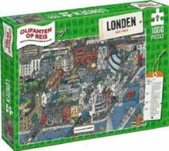 Tucker's Fun Factory Puzzel 1000 stukjes - Olifanten op Reis - Londen