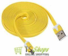 Qatrixx Micro USB Kabel Datacable 3 meter Universeel Yellow Geel