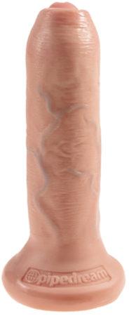 Afbeelding van Huidskleurige King Cock Pipedream King Kock Uncut Onbesneden Realistische Dildo met Zuignap - 15 cm- beige