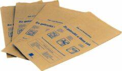 Bruine BioKraft Papieren zak voor keukenafval