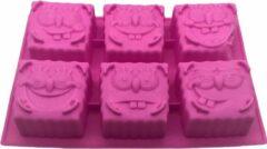 Roze FIFO Spongebob Squarepants, Bikinibroek, Bakvorm, Koekjes, Bakken, Tafelen, Smullen, Patrick Ster, Octo Tentakel, Gerrit, Meerminman & Mosseljongen