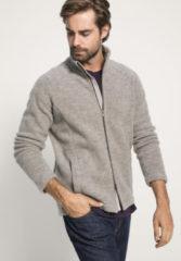 Hessnatur Herren-Outdoor Herren Wollfleece-Jacke aus Schurwolle – grau – Größe 54