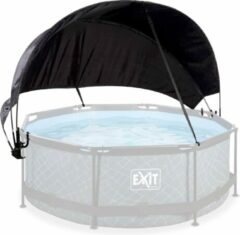 Zwarte EXIT zwembad schaduwdoek ø244cm