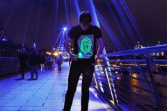 Illuminated Apparel Illuminates Apparel Zwart T-Shirt Glow in the Dark - Maat Large
