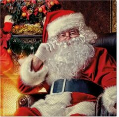 Tete à Tete Santa at home papieren servetten