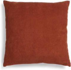 Bruine ESSENZA Riv Sierkussen Vierkant Shell brown - 45x45 cm