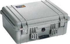 Peli Case - Camerakoffer - 1550 - Zilver - incl. plukschuim 52,40 x 42,80 x 20,60 cm (BxDxH)