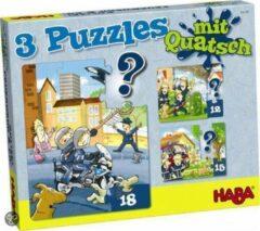 Haba Puzzel Politie, brandweer 4 Puzzels