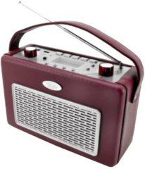 Nostalgie UKW-Radio mit USB TR50 Soundmaster Rot