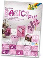 Motiefpapier Folia basics roze