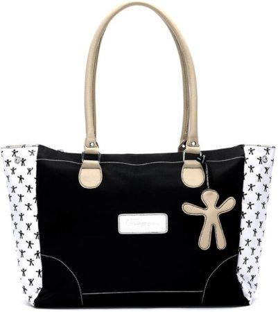 Afbeelding van Zwarte Little Company - LCT Twist Shoulder Bag Luiertas - Zwart, Zand, Wit