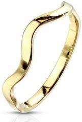 Moorell Ring Dames - Ringen Dames - Ringen Vrouwen - Goudkleurig - Gouden Kleur - Ring - Ringen - Met Golfbeweging - Wave
