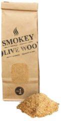 Bruine Smokey Olive Wood - Rookmot - Rookmeel - 300ml - 50% olijfhout en 50% Beuk - ø 0-1mm