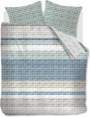 Blauwe Ariadne At Home Quilted Squares Dekbedovertrek - Lits-jumeaux (260x200/220 Cm + 2 Slopen) - Katoen - Blue
