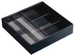 Zwarte Uitschuifbare bestekbak metaal Yamazaki