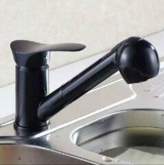 Twente Shopping Zwarte Keukenkraan - Uittrekbare douchekop- douchekraan voor huisdier- hondendouche- kattendouche- 2 straalsoorten