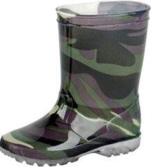 Merkloos / Sans marque Groene kleuter/kinder regenlaarzen leger - Rubberen leger print laarzen/regenlaarsjes voor kinderen 27