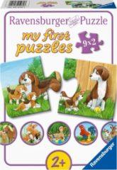 Ravensburger Spieleverlag Ravensburger Dierenfamilies op de boerderij - My First puzzles - 9x2 stukjes - kinderpuzzel