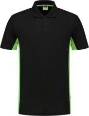 Zwarte Tricorp poloshirt bi-color - 202004 - zwart / lime - maat 5XL