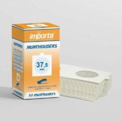 Witte Importa Munthouders om te nieten 37,5mm - 50 stuks