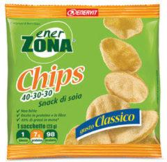 Enerzona Chips 40-30-30 Snack di Soia Gusto Classico 1 Mini-pack