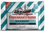 Fishermans Friend Spearmint Frisse Mint Lozenges Suikervrij Tuquoise/Wit