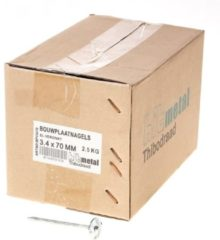 Vandeloo Bouwplaatnagels gegalvaniseerd 3.4x70mm