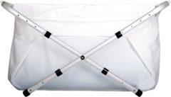 Witte Bibabad Babybadje - verstelbaar XXL 80-100 cm
