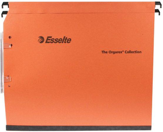 Afbeelding van Bruna Hangmap Esselte Orgarex Dual lateraal 15mm oranje