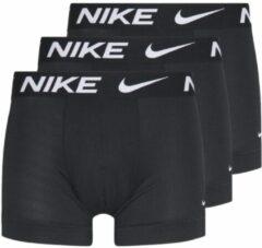 Zwarte Nike Essential Micro Trunk 3 Pack boxershorts