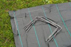 Nature Bevestigingspinnen voor anti-worteldoeken 20 st 25x20 cm metaal