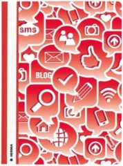 Rode Opbergmappen Herma A4 Social Icons rood