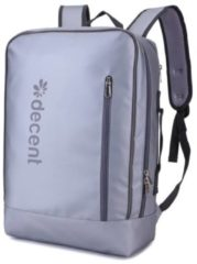 Decent Waterproof Laptoptas / Rugzak Backside Zilver