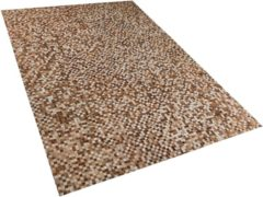Bruine Beliani Torul Vloerkleed Koeiehuid Leer 140 X 200 Cm