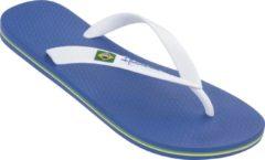 Blauwe Ipanema Classic Brasil Heren Slippers - Blue/White - Maat 47/48