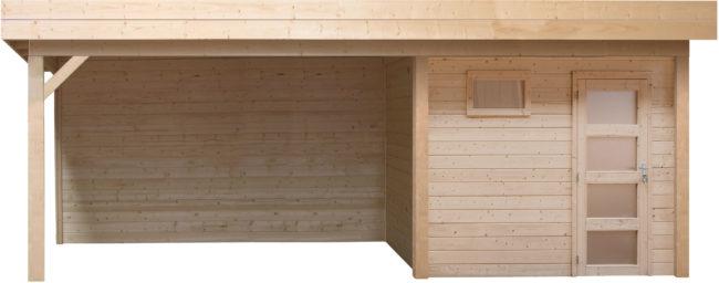 Afbeelding van Woodvision Topvision | Blokhut Kuifmees met zijluifel 300 cm | Geimpregneerd-groen