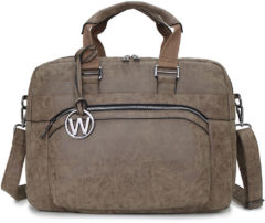 Wimona Eliana 2050 Dames Businesstas / Laptoptas - 15,4 inch - Taupe