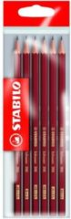 Zwarte Stabilo Schwan 306 grafiet potloden 6 stuks 2x HB   B   H   2B   2H
