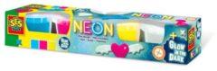Blauwe Ses Creative Kleiset Neon En Glow In The Dark Junior 4x90gr
