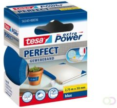 Tesa tesa Extra Power Textieltape Blauw (l x b) 2.75 m x 38 mm Rubber Inhoud: 1 rollen