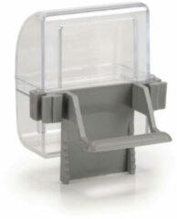 Grijze Beeztees Plastic drink- en voederbakje, grijs, transparant, 2 st