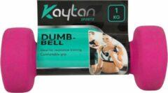 Kaytan Sports 2 x Dumbbells - Dumbbells set van 2 x 1 kg - Gewichten - Halterset - Roze