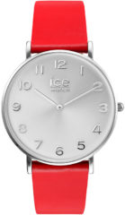 Rode Ice-Watch CITY tanner CT.RSR.36.L.16 Horloge - Leer - Rood - Ø 34 mm
