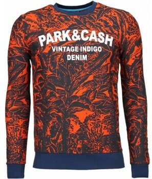 Afbeelding van Oranje Sweater Black Number Park Cash - Sweater