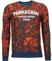 Black Number Park&Cash - Sweater - Oranje Sweaters / Crewnecks Heren Sweater Maat XL