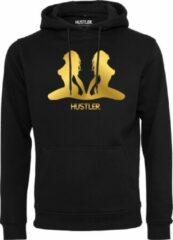 Merchcode Hustler gold hoody in kleur zwart maat XL